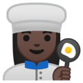 Woman Cook: Dark Skin Tone on Google Android 8.1