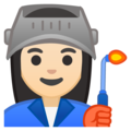 Woman Factory Worker: Light Skin Tone on Google Android 8.1