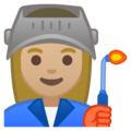 Woman Factory Worker: Medium-Light Skin Tone on Google Android 8.1