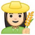 Woman Farmer: Light Skin Tone on Google Android 8.1