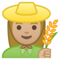 Woman Farmer: Medium-Light Skin Tone on Google Android 8.1