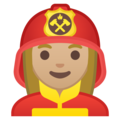 Woman Firefighter: Medium-Light Skin Tone on Google Android 8.1