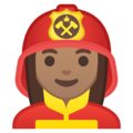 Woman Firefighter: Medium Skin Tone on Google Android 8.1