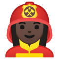 Woman Firefighter: Dark Skin Tone on Google Android 8.1