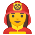 Woman Firefighter on Google Android 8.1