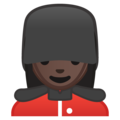 Woman Guard: Dark Skin Tone on Google Android 8.1