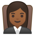 Woman Judge: Medium-Dark Skin Tone on Google Android 8.1