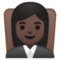 Woman Judge: Dark Skin Tone on Google Android 8.1