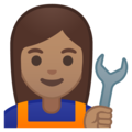 Woman Mechanic: Medium Skin Tone on Google Android 8.1