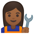 Woman Mechanic: Medium-Dark Skin Tone on Google Android 8.1