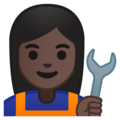 Woman Mechanic: Dark Skin Tone on Google Android 8.1