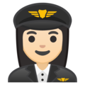 Woman Pilot: Light Skin Tone on Google Android 8.1