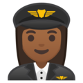 Woman Pilot: Medium-Dark Skin Tone on Google Android 8.1