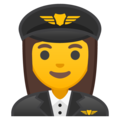 Woman Pilot on Google Android 8.1