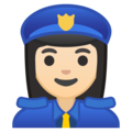 Woman Police Officer: Light Skin Tone on Google Android 8.1