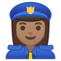 Woman Police Officer: Medium Skin Tone on Google Android 8.1