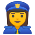 Woman Police Officer on Google Android 8.1