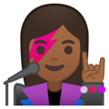Woman Singer: Medium-Dark Skin Tone on Google Android 8.1