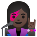 Woman Singer: Dark Skin Tone on Google Android 8.1