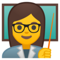 Woman Teacher on Google Android 8.1