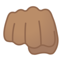 Oncoming Fist: Medium Skin Tone on Google Android 8.1