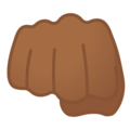 Oncoming Fist: Medium-Dark Skin Tone on Google Android 8.1