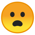 Frowning Face With Open Mouth on Google Android 8.1