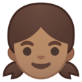 Girl: Medium Skin Tone on Google Android 8.1