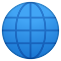 Globe With Meridians on Google Android 8.1
