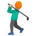 Person Golfing: Medium-Light Skin Tone on Google Android 8.1