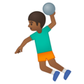 Person Playing Handball: Medium-Dark Skin Tone on Google Android 8.1
