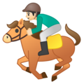 Horse Racing: Light Skin Tone on Google Android 8.1