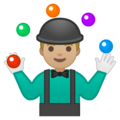 Person Juggling: Medium-Light Skin Tone on Google Android 8.1