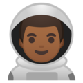 Man Astronaut: Medium-Dark Skin Tone on Google Android 8.1