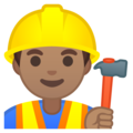 Man Construction Worker: Medium Skin Tone on Google Android 8.1