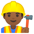 Man Construction Worker: Medium-Dark Skin Tone on Google Android 8.1