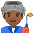 Man Factory Worker: Medium-Dark Skin Tone on Google Android 8.1