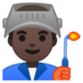 Man Factory Worker: Dark Skin Tone on Google Android 8.1