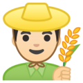 Man Farmer: Light Skin Tone on Google Android 8.1