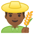 Man Farmer: Medium-Dark Skin Tone on Google Android 8.1
