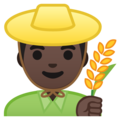 Man Farmer: Dark Skin Tone on Google Android 8.1