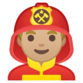 Man Firefighter: Medium-Light Skin Tone on Google Android 8.1