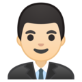 Man Office Worker: Light Skin Tone on Google Android 8.1