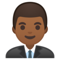 Man Office Worker: Medium-Dark Skin Tone on Google Android 8.1