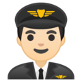 Man Pilot: Light Skin Tone on Google Android 8.1
