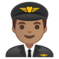 Man Pilot: Medium Skin Tone on Google Android 8.1