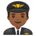 Man Pilot: Medium-Dark Skin Tone on Google Android 8.1