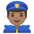 Man Police Officer: Medium Skin Tone on Google Android 8.1