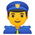 Man Police Officer on Google Android 8.1