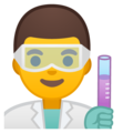 Man Scientist on Google Android 8.1